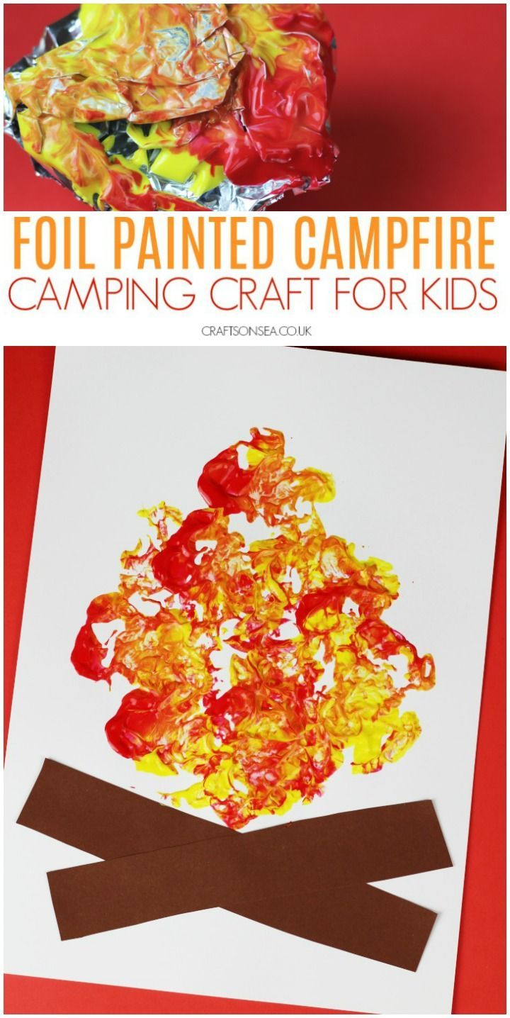 Foil Painted Campfire Craft