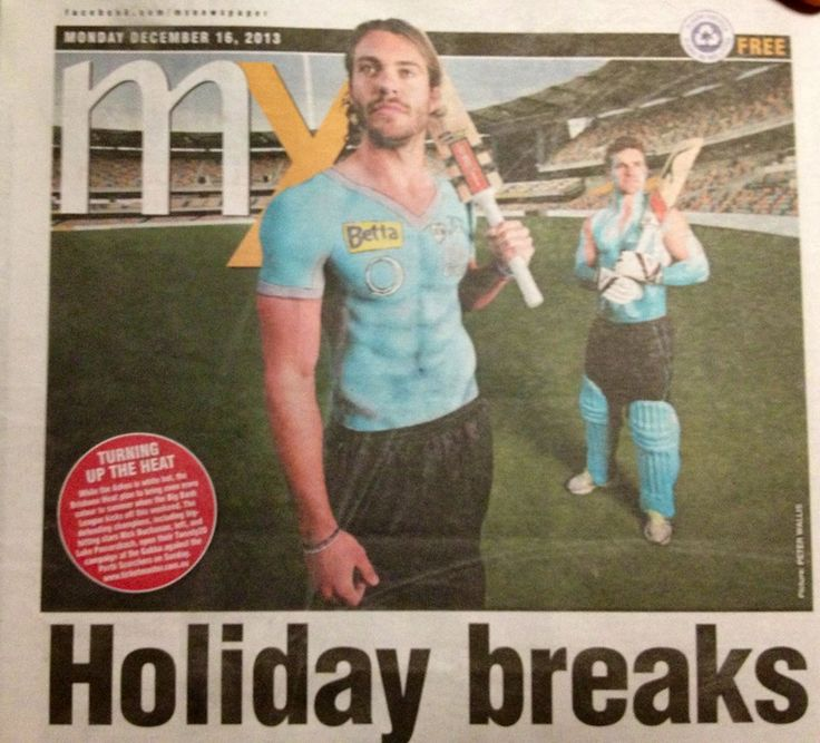 Body Painting for Brisbane Heat 20/20 Cricket 2012