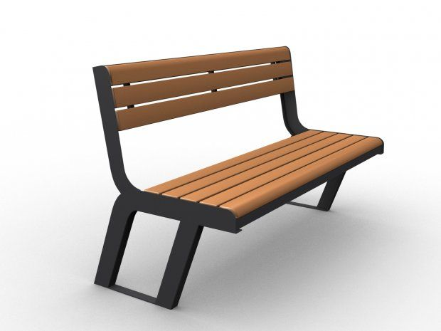 Park Bench 3d Model 3ds On Pinterest Discover The