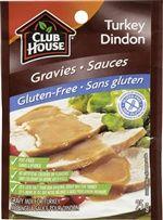 Club House Mélange à sauce pour dindon sans gluten