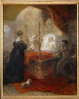Theodoor van THULDEN (Bois-le-Duc, 1606 - Bois-le-Duc, 1669)  Saint François de Paule (1416-1507) prophétisant un fils (le futur François Ier, roi de France, né en 1494) à Louise de Savoie  H. : 0,73 m. ; L. : 0,61 m.  Donation Dr Louis La Caze, 1869 (comme école de Rubens : sujet inconnu)  M.I. 974