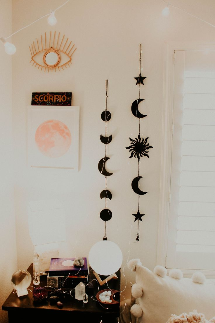 Celestial Wall Hanging | Aesthetic bedroom, Diy bedroom ...