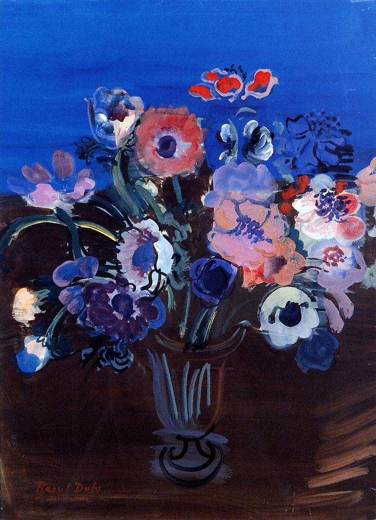❀ Blooming Brushwork ❀ - garden and still life flower paintings - Raoul Dufy | Anemones