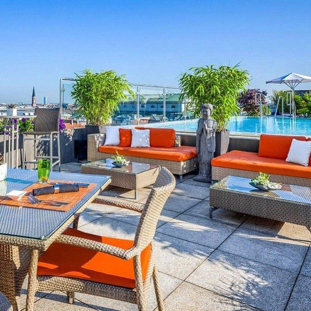 Simple Probably the best place to be on a sunny day China Moon Roof Terrace of