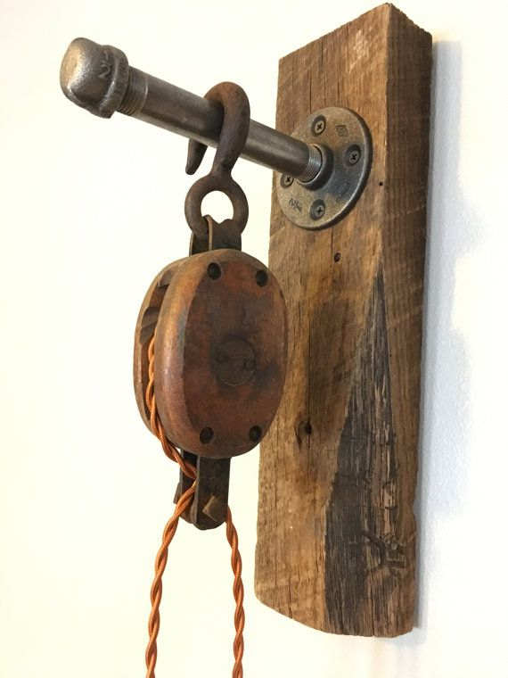 1000 Ideas About Pulley Light On Pinterest Rustic