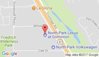 Map to North Park Lexus Dominion in San Antonio, Texas