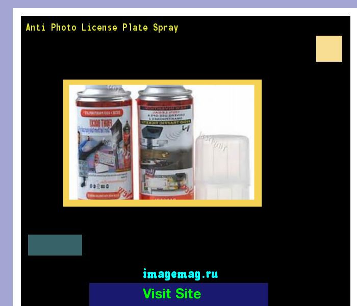 Anti photo license plate spray 155424 - The Best Image Search