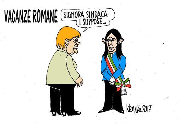 """Un breve """"#raggi"""" di sole. e fu subito sera... #Roma #Merkel"""