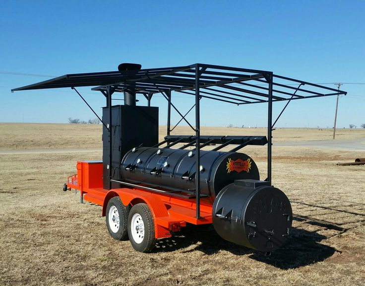 """Big Dog"" Nicky B's Catering & BBQ of Las Vegas, Nevada purchased this 30"" triple door Ranger Horizon Trailer Smoker! Customer requested frame only as he will place a custom soft top with the business logo!   What a GREAT way to promote a business! #HorizonSmokers #MadeintheUSA #Catering  Order yours today. 1-866-468-4066"