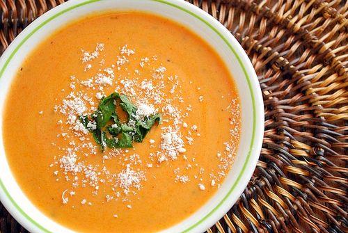 Creamy Tomato Basil Soup by joelen: Creamy Tomatoes, Tomatoes Basil Soups, Chilis Recipes, Tomatoes Soups, Basil Soups Not, Yummy 3, Creamy Basil, Basil Tomatoes, Tomato Basil Soup