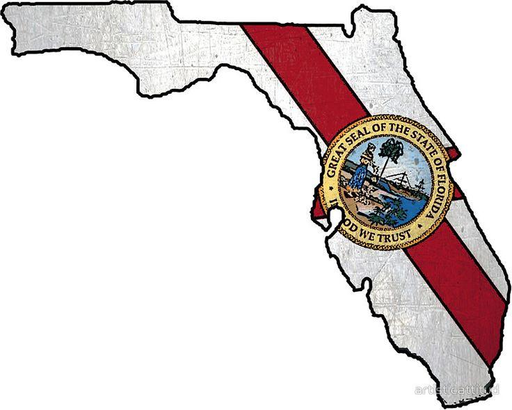 Florida flag shape outline #Florida #flag #shape #outline #Floridian #native #local #sticker  ArtisticAttitude.net