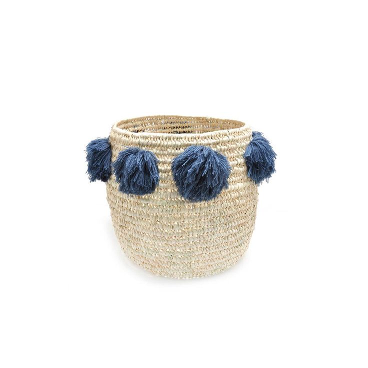 molly meg large storage basket, grey pom poms-coming soon
