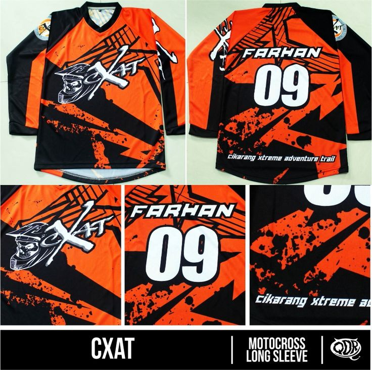 Motocross kids jersey Cxat Sublimation Print  By. Qita Design