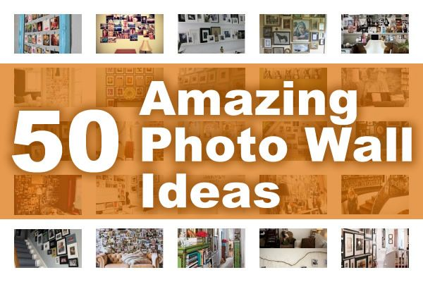 Create a photo wall of your family photographs