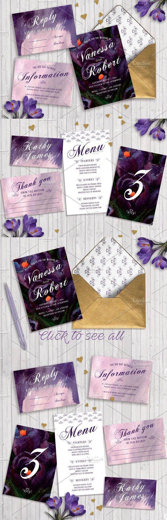 Wedding Invitation Template Crocus. Wedding Card Templates