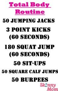 Friday Fitness Challenge: Total Body Toning | Skinny Mom | Tips for Moms | Fitness | Food | Fashion | Family  I can do this anywhere!