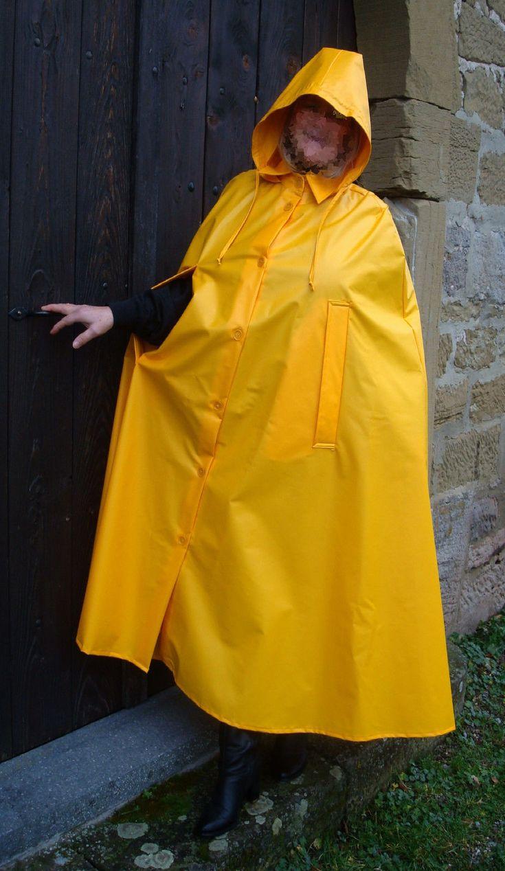 Rain Cape Regencape Raincoat Lack Shiny Vinyl Regenmantel Vintage Lackcape    Kleidung & Accessoires, Herrenmode, Sonstige   eBay!