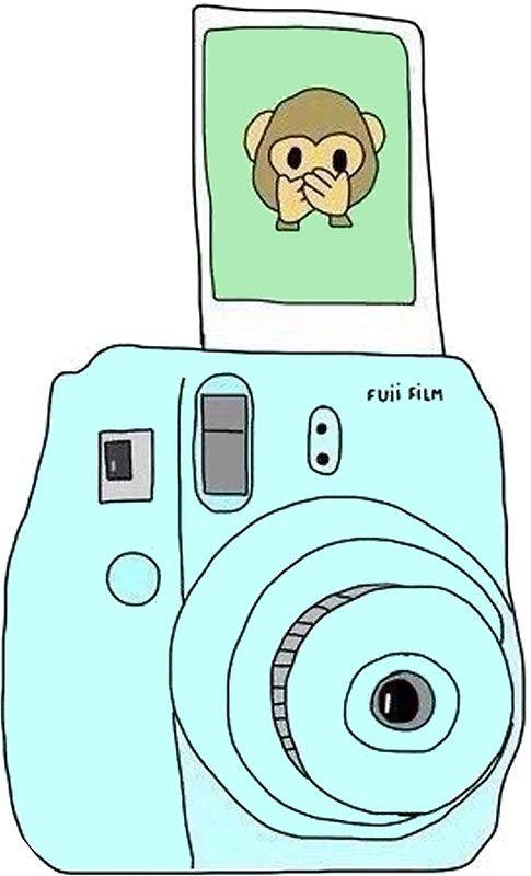 Monkey Emoji Polaroid Stickers In 2019 Camera Drawing