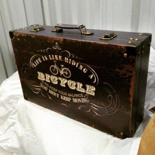 #Vintage wooden box suitcase Holz Koffer #Holzkoffer #Antik #Holztruhe #Retro #Truhe