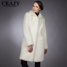 2016 Yeni Artı Boyutu Kadın Giyim 4XL 5XL 6XL Kış Siyah Bayanlar Için beyaz Lüks Yapay Vizon Kürk Ceket Sahte Kürk Mantolar(China (Mainland))