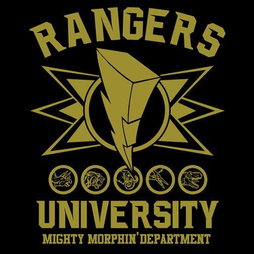 Rangers University T-Shirt $12.99 Power Rangers tee at Pop Up Tee!