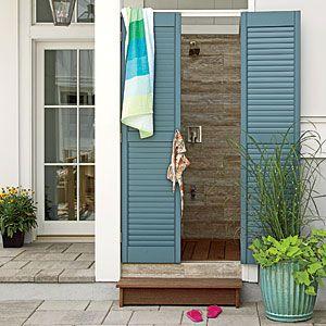 17 best images about shower door ideas on pinterest for Outdoor shower doors