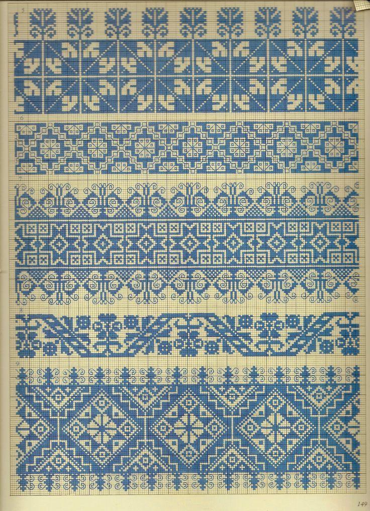 Pepin van Roojen, 2010 Crosses Stitches Patterns, Crossstitch, European Folk, Color Charts, Cross Stitch Patterns, Fair Isle, Fabrics Design