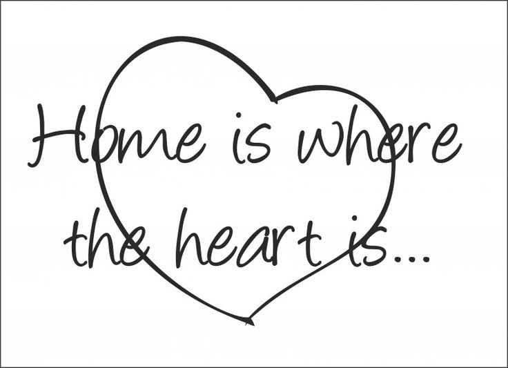 Muursticker Home is where the heart is...