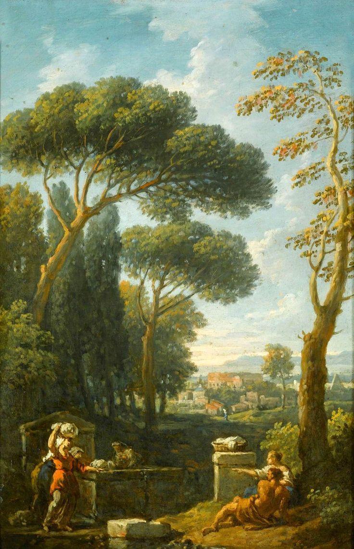 Jan Frans van Bloemen (dutch, 1662-1749), Capriccio View of Rome, Oil on canvas, 39 x 26 cm, Private collection