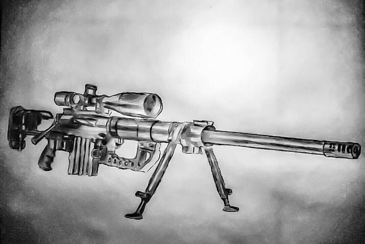 CheyTac Intervention M200 Pencil Drawing/Sketch by CYBORG1609