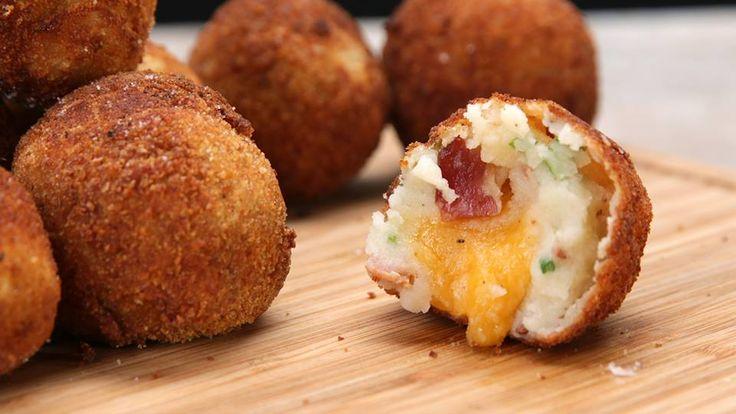 Tasty Loaded Cheese-Stuffed Mashed Potato Balls