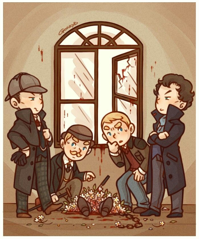 Holmes and Watson x2