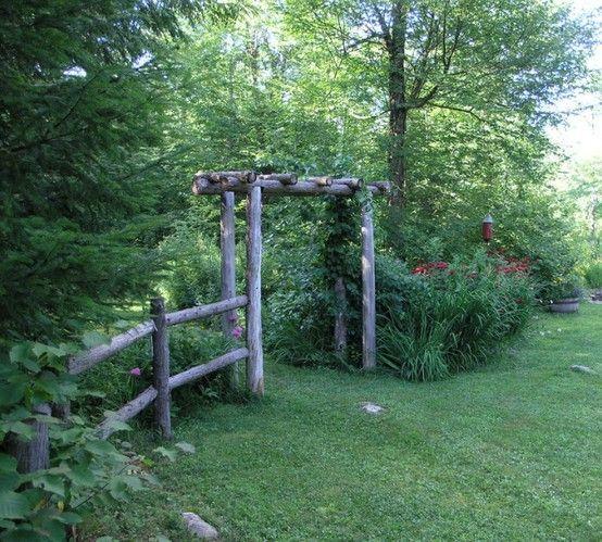 Rustic Garden Arbors Google Search Landscaping