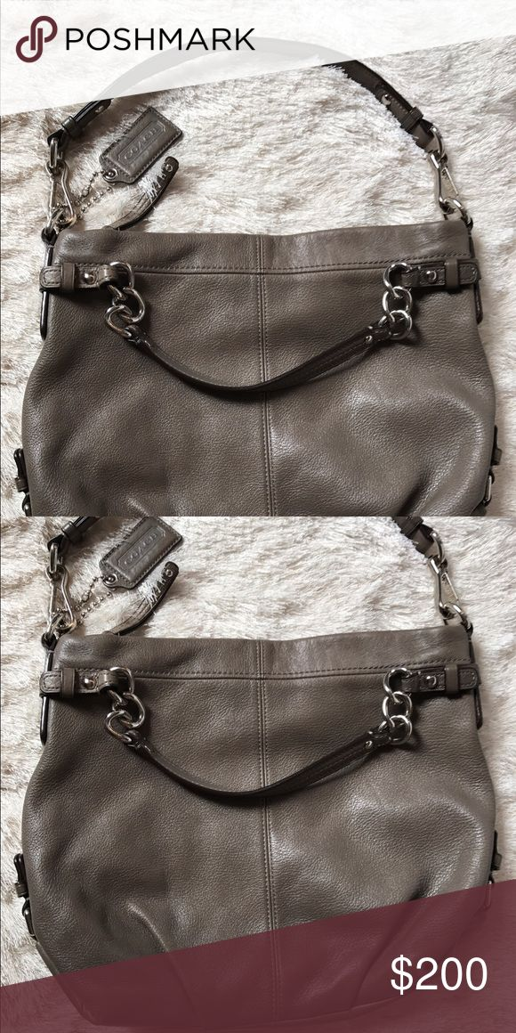 Coach Leather Hobo Bag Coach Hobo Bag in grey is in great condition! Coach Bags Hobos