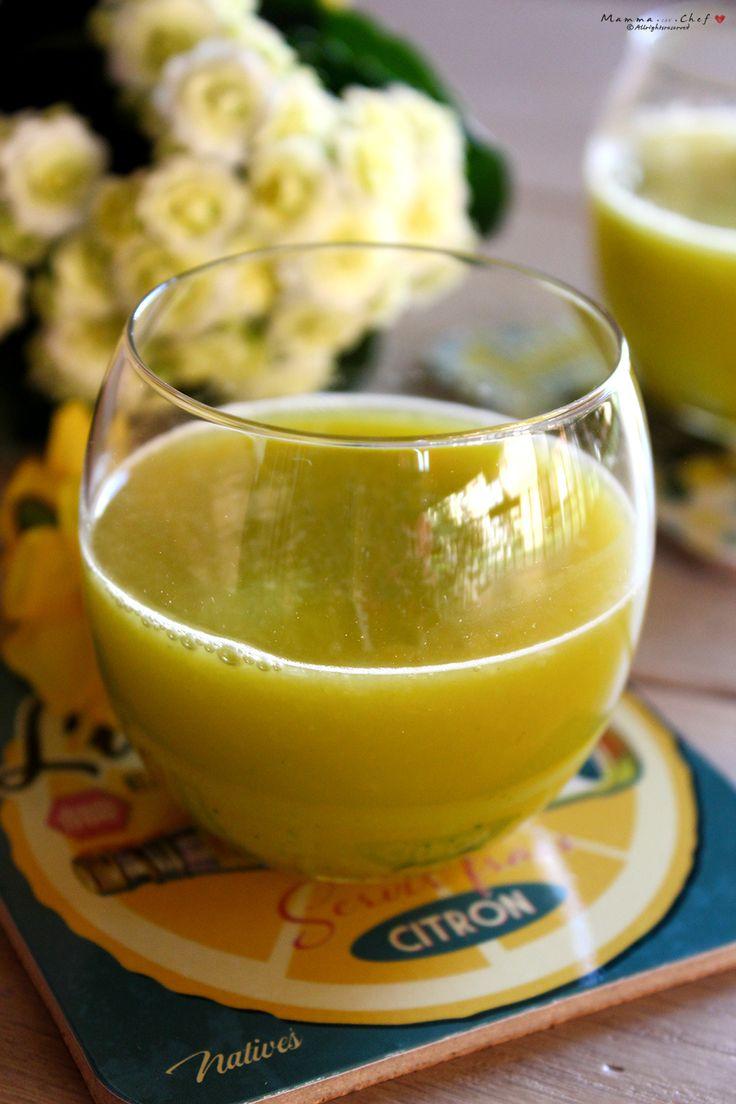Estratto di zucchine, lime, arance, pera e zenzero