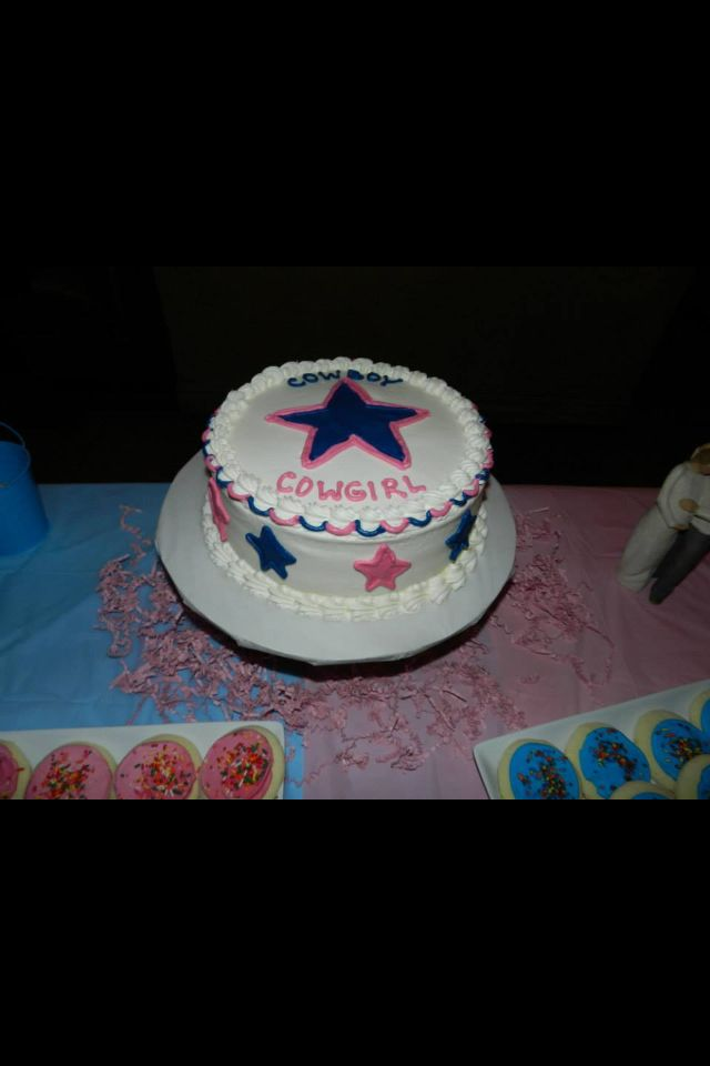 dallas cowboy gender reveal cake baby shower pinterest