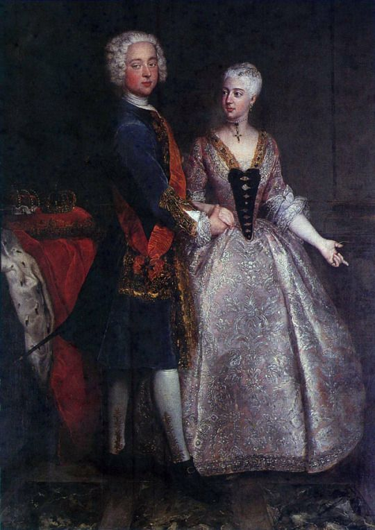 1729 Antoine Pesne - Portrait of Charles William Frederick, Margrave of Brandenburg-Ansbach, and Princess Friederike Luise of Prussia