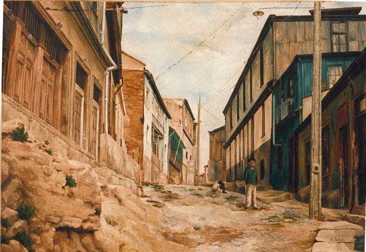 Oil on canvas - C°Toro, Valparaíso, Chile