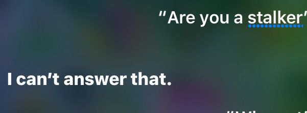 Asked Siri if she was a stocker