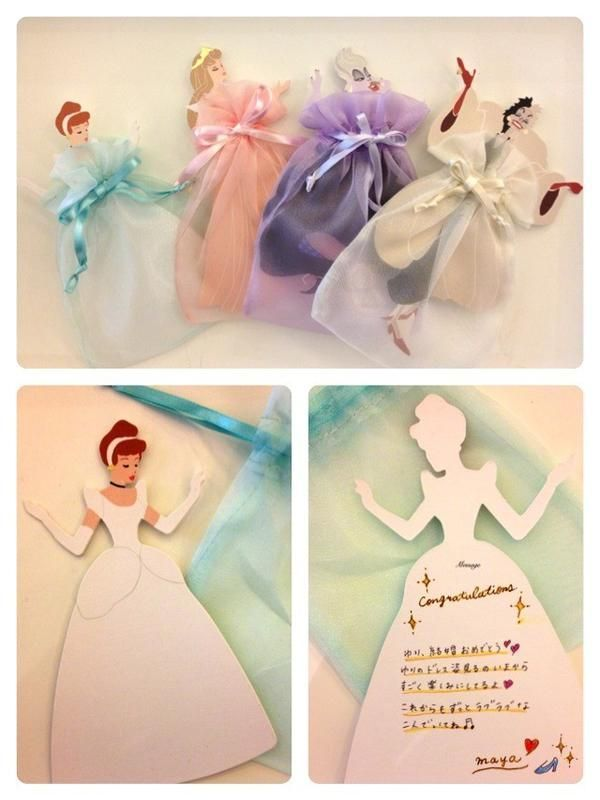 豊富な種類が嬉しい!ディズニープリンセスのメッセージカードがおしゃれ♡にて紹介している画像