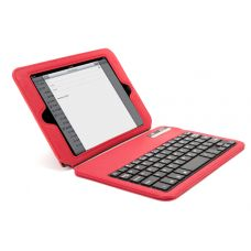 Your iPad mini just got more functional! The slim Griffin Keyboard Folio is a protective folio with a built-in bluetooth keyboard that features Mac Command and Option keys as well as dedicated keys for volume and brightness. Hidden magnets keep the folio securely closed for hassle-free transport.