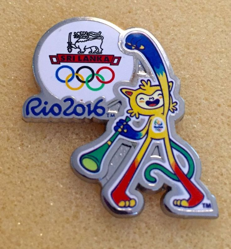 Sri Lanka NOC Olympic Team Pin dated Rio 2016 - with Vinicius Mascot   | eBay