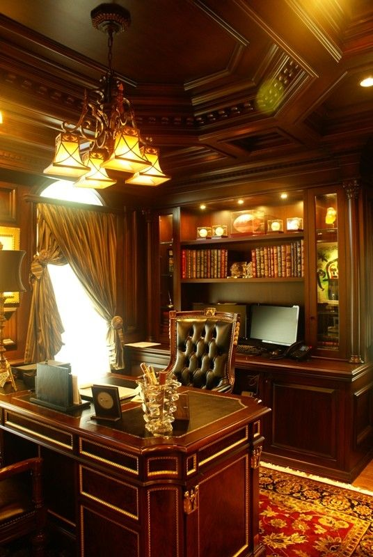 Executive home office #highclass #homeoffice #wood
