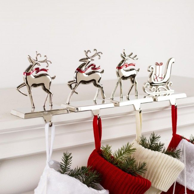 Christmas Stocking Mantle Holders - Christmas Cards