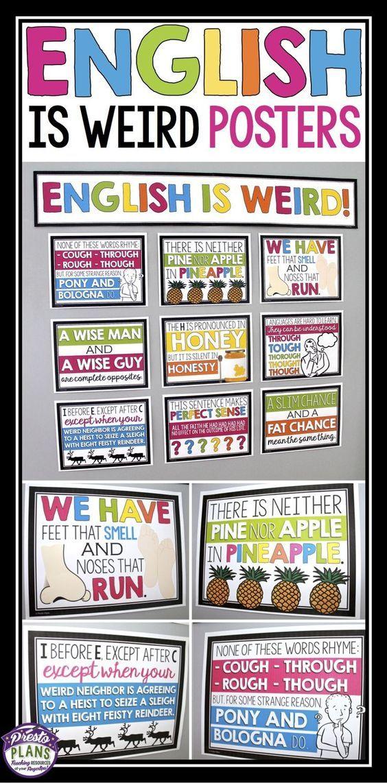 ENGLISH CLASSROOM POSTERS / BULLETIN BOARD | Learning