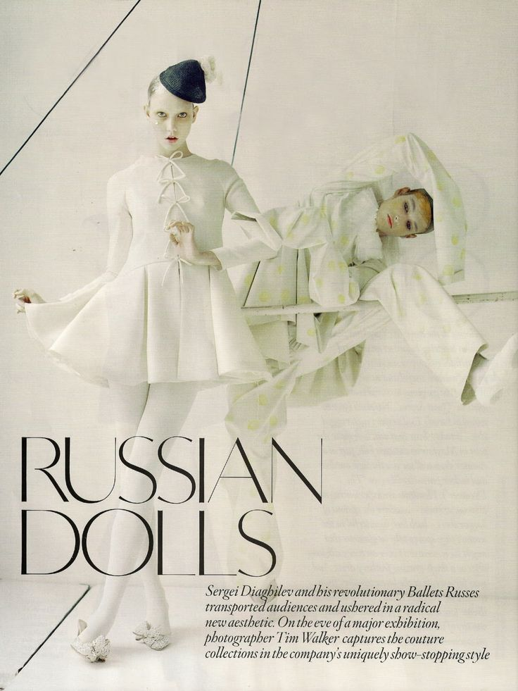 Russian Dolls -Pictures of Karlie Kloss @ Vogue - UK, October 2010 by Tim…