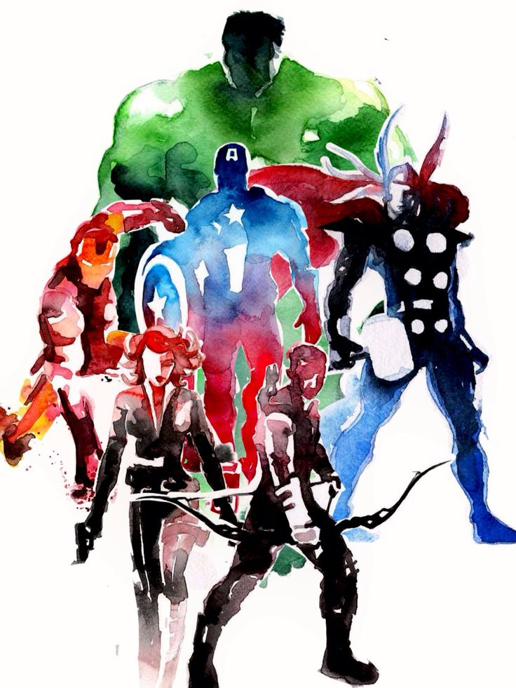 The avengers heroes les super h ros h ros dessin - Heros avengers ...