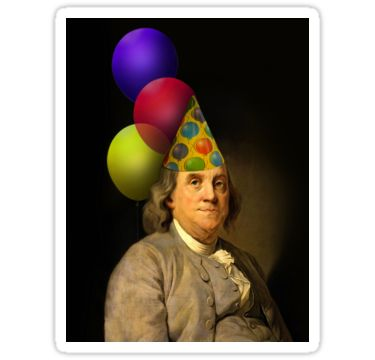 Birthday Ben Franklin | Sticker