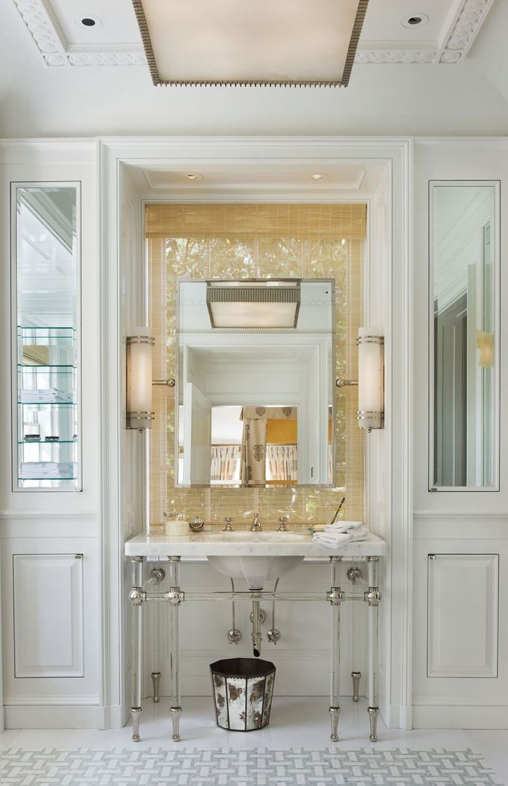Tilting mirror bathroom mirrors waterworks more bathroom mirrors - The Great American House By Gil Schafer Great Mirror Mounted In Front Of Window Find This Pin And More On Home Bathroom