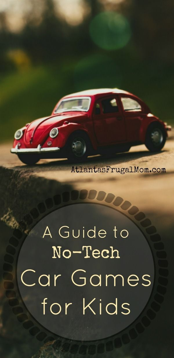 a guide to non tech car games for kids